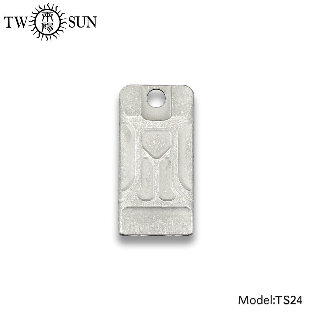 TWOSUN TC4 Titanium Double Pipe Whistle Lifesaving Survival SOS Emergency Escape tool Outdoor Survival tool Portable EDC TS24