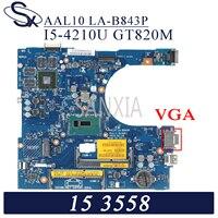 Kefu LA-B843P placa-mãe do portátil para dell inspiron 15-5558 14-5458 17-5758 original mainboard I5-4200U gt920m