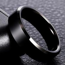 8 мм Фирменное мужское черное кольцо, титановые кольца из нержавеющей стали для женщин, серебряные золотые кольца для влюбленных пар, качественные Подарки на день Святого Валентина