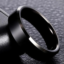 8mm Brand Men Black Ring Titanium Stainless Rings For Women Silver Gold Rings Lover Couple High Quality Jewelry(China)