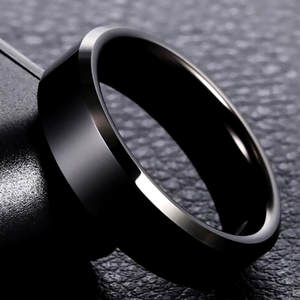 Black Ring Jewelry Couple Silver Gold Titanium Women Brand 8mm for Lover High-Quality