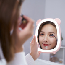 Aojiao Makeup Mirror LED Soft Light HD USB Charging Mirror Storage Plastic Environmental Protection Mirror Fill Light Material