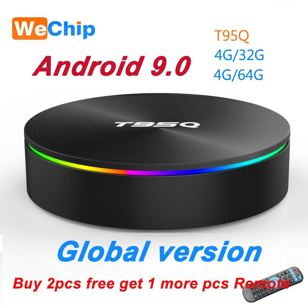 T95Q 4G + 64G Android 9.0 LPDDR3 Amlogic S905X2 TV BOX Quad Core double Wifi BT4.1 1000M H.265 4K 4G + 32G décodeur PK X96 H96 MAX