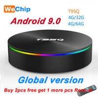 T95Q 4G + 64G Android 9.0 LPDDR3 Amlogic S905X2 TV BOX Quad Core Dual Wifi BT4.1 1000M H.265 4K 4G + 32G Set Top Box PK X96 H96 MAX
