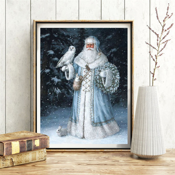 HUACAN Santa Claus Diamond Painting Full Square Mosaic Christmas Decorations For Home Cross Stitch