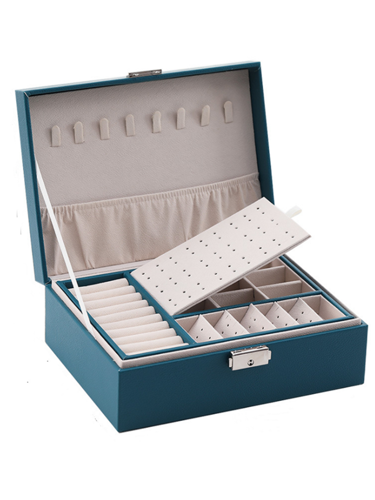 Storage-Box Jewelry Drawer Gift Winter Portable with Multi-Function European-Style