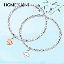 TIFF HGMEIKAINI 1:1 with 925 sterling silver bracelet in Europe and the original rose gold pendant charm women love fashion gift
