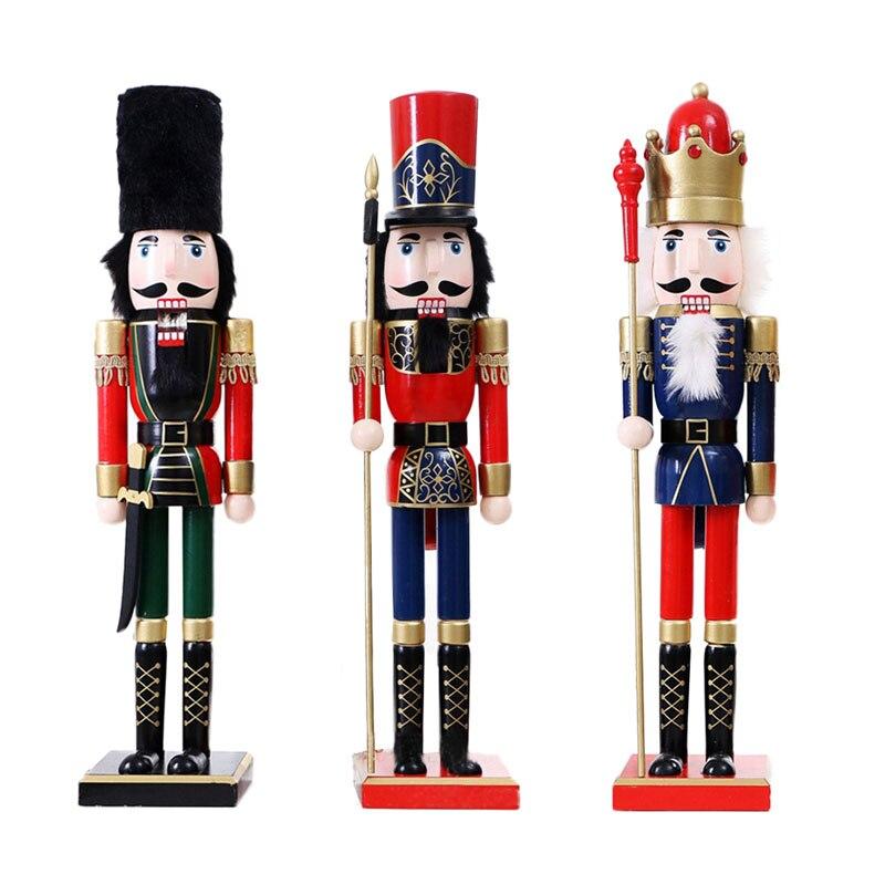 60 cm nutcracker decorações de natal para casa artesanato de madeira artesanal estilo britânico 60 cm nutcracker fantoche