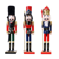 60CM Nutcracker Christmas Decorations For Home Handmade Wood Crafts British Style 60CM Nutcracker Puppet