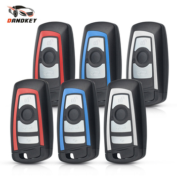 Dandkey 10pcs Replacement Smart Remote Key Shell Fob For BMW F CAS4 5 Series 7 Series 3/4 Buttons Keyless Key Case HU100R Blade image