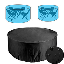 Outdoor Patio Garden Furniture Round Table Chair Set Dust Proof Covers Waterproof Oxford Cloth Sofa Protection Rain Snow Cover