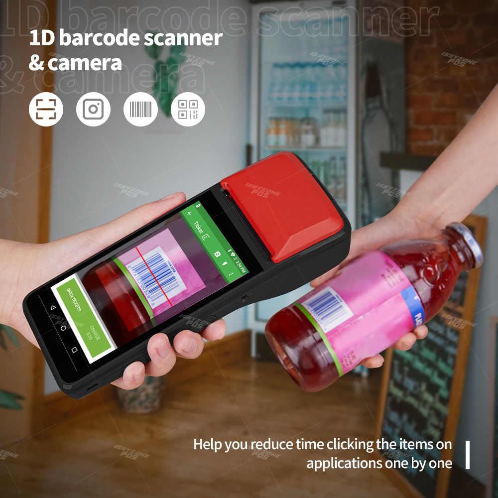 IssyzonePOS Android 7,1 PDA Themal чековый принтер ручной POS терминал Bluetooth 4,0 Wifi 4G 1W динамик камера мобильный платеж