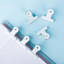 Металлическая папка в форме бульдога белая капли школьные принадлежности