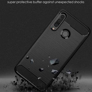 Image 3 - Pour Huawei Y6 2019 étui amortisseur Anti choc doux TPU silicone couverture en Fiber de carbone armure étui pour Huawei Y6 2019 Y6 Prime 2018 Pro