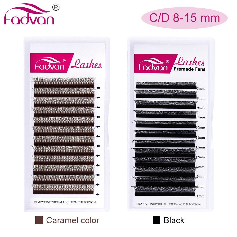 FADVAN YY/W дизайнерские накладные ресницы из искусственной норки черные мягкие Invividual ресницы y-образные объемные ресницы Инструменты 8-14 мм рес...