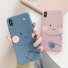 Cartoon Cute Dinosaur Phone Case for iPhone 11 12pro 12mini Transparent Soft Silicone Shell for iPhone 8 XS 7/8Plus Phone Cover