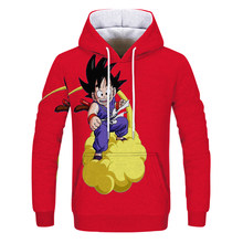 2019 Anime Dragon Ball sweat à capuche Cosplay 3d Super Saiyan Dragon Ball Z Dbz Son Goku poche sweats à capuche sweat à capuche pour homme femmes(China)