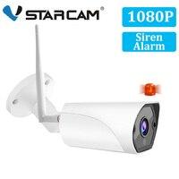 Vstarcam 1080 p 2mp bala ao ar livre câmera ip wi fi câmera de segurança vigilância movimento sirene alarme ip66 à prova dwaterproof água ir cctv câmera|Câmeras de vigilância| |  -