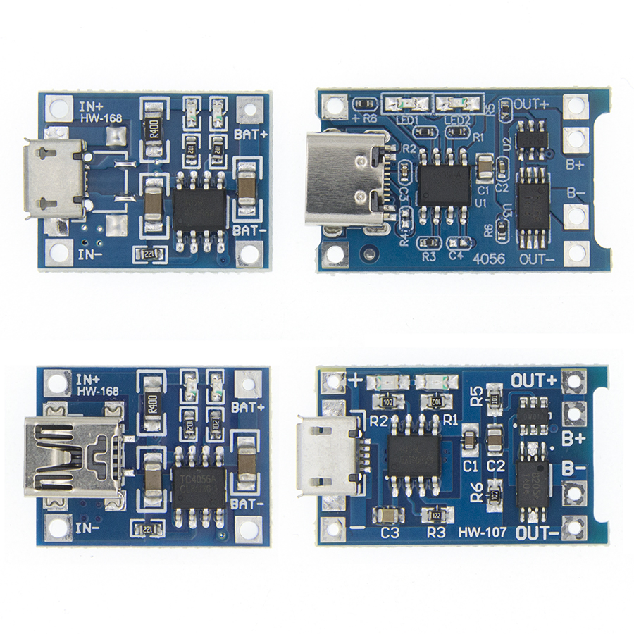 TP4056 +Protection Dual Functions 5V 1A Micro USB 18650 Lithium Battery Charging Board Charger Module