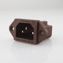 Viborg VI 06CC klasa Audio czysta czerwona miedź IEC AC wlot IEC gniazdo wtykowe gniazdo