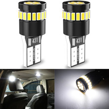 2Pcs T10 W5W LED Canbus Bulbs 168 194 LED Car Parking Lights For Giulietta Peugeot 307 Seat Leon 2 MK3 Alfa Romeo 159 147 156