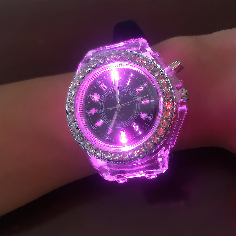 Hot Style  Luminous  Fashion  Colorful Flash  Children Watch  The Led  Silicone Kids Watches