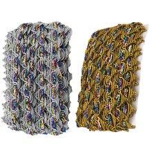 Двухцветные тканые Бусины в виде короны золотого и серебряного