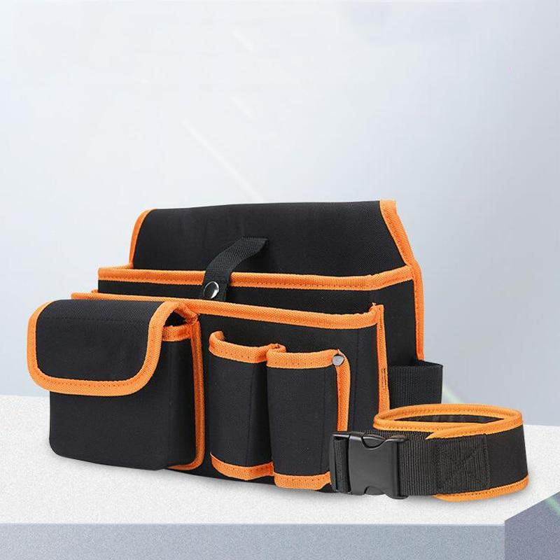 Multifunctional Tool Bag Durable Waterproof Canvas Tool Bag Belt Bag Electrician Repair Tool Bag Storage Bag Tool Pocket