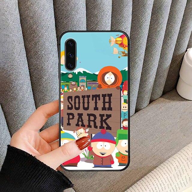 Cartoon South-Park SouthPark coque de téléphone pour SamSung Galaxy A M 5 8 10 20 30 31 40 50 51 70 71 80 S E noir noir cellule jolie
