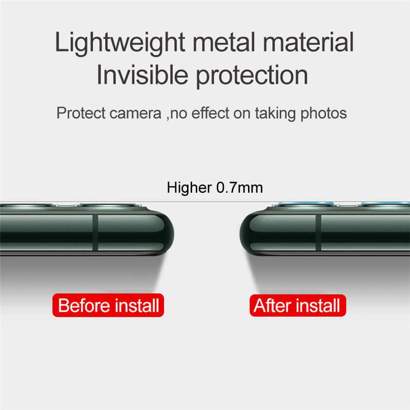 TITANIUM Alloy กล้องเลนส์ป้องกันแหวนสำหรับ iPhone 11 PRO MAX โลหะสำหรับ iPhone 11Pro 11 2019 LEN ฝาครอบกรณี