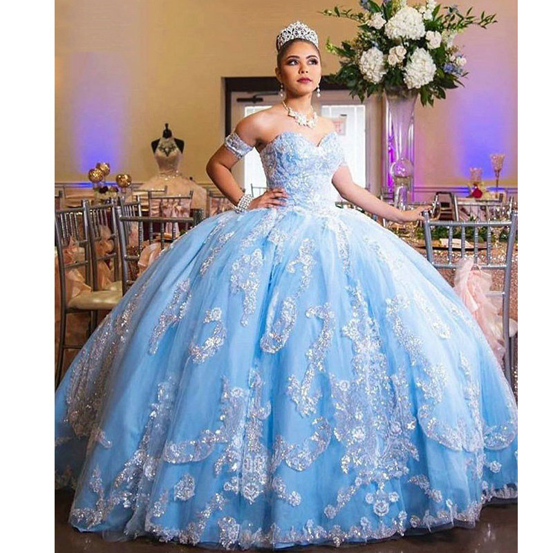 Custom-made Girl Quinceanera Dress Vestidos De 15 Anos Lace Appliques Tulle Ball Gowns Formal Party Dress 2019