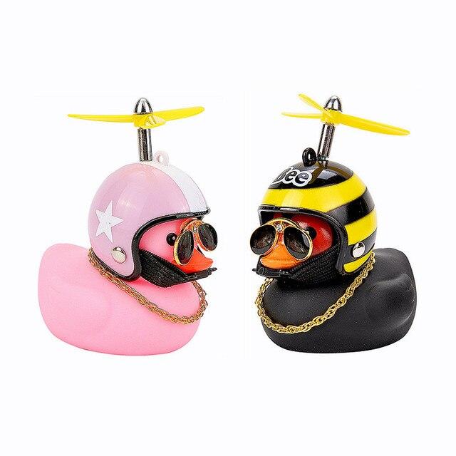 Автомобильные товары, подарок, шлем со сломанным ветром, маленькая Желтая утка, украшение для автомобиля, аксессуары для ветра, украшение для езды на велосипеде 5