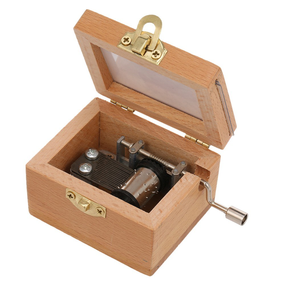Wooden Hand Crank Music Box Hand-operated Music Case Creative Children Toy Festival Presents Birthday Gifts For Girls