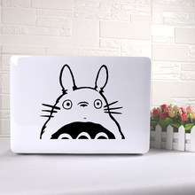 Cute Totoro Computer Skins Black Notebook Decal Laptop Sticker Vinyl Stickers Pc Tablet Notebook Surface Skin(China)