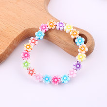 Summer Style Kids Children Cute Colorful Flowers Acrylic Bracelet&bangles for Girl Birthday Party Jewelry Gift Wholesale(China)