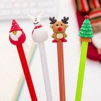 12 Uds 0 5mm pluma de Gel árbol de Navidad tinta negra Chancellory Gel pluma bolígrafos papelería oficina escuela escribir suministros regalo de Año Nuevo|Bolígrafos de gel| |  -