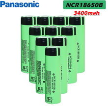Panasonic 100% original brand new 3.7v 18650 3400mah lithium Rechargeable battery NCR18650B For Flashlights brake computers(China)