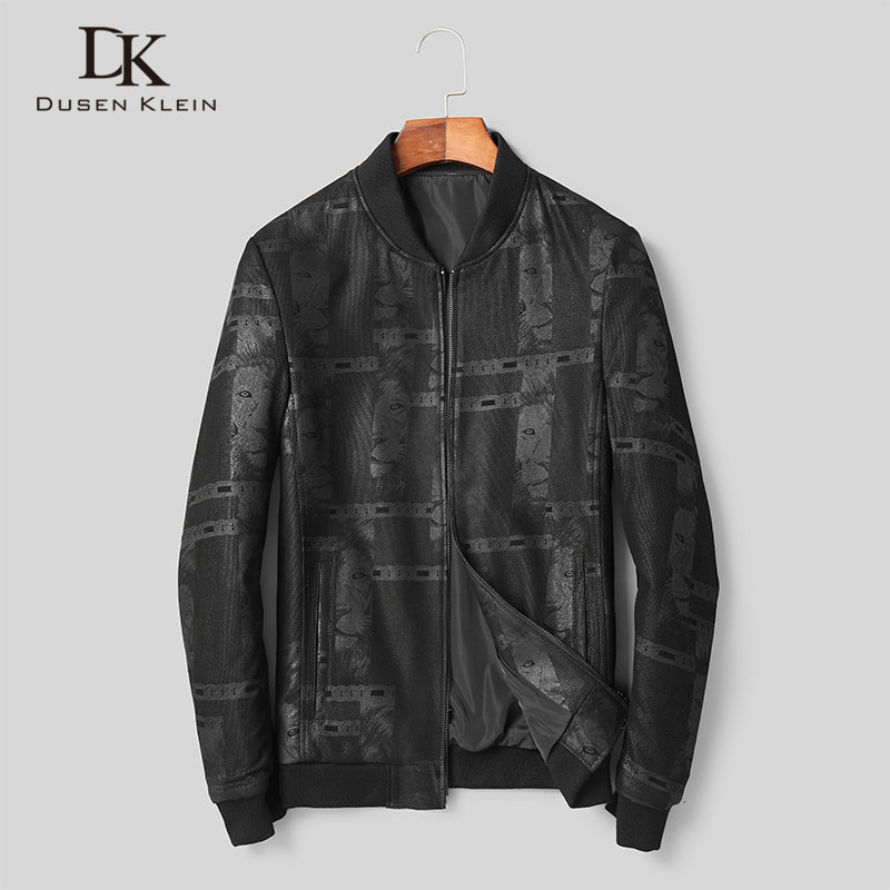 Men Genuine Leather Jacket Real Sheepskin Jackets Casual Short Black Pockets 2019 Autumn New Coat for Man D1803