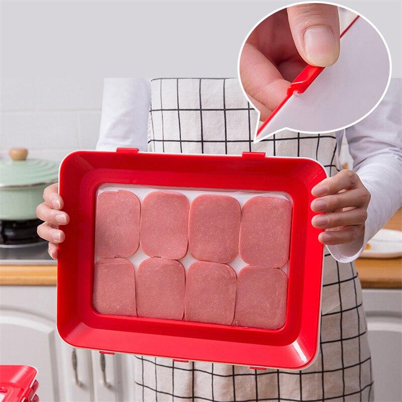 6 шт., креативный вакуумный поднос для хранения пищевых продуктов, Штабелируемый поднос для сохранения свежести, поднос для холодильника, Сервировочная тарелка для пищевых продуктов, кухонный Органайзер-4