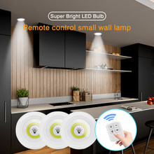 LED Light COB Under Cabinet Light Night Light 3W Super Bright Remote Control Dimmable Wardrobe Lamp Stair Kitchen loft Lighting