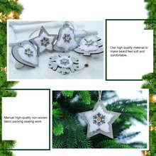 2PCS Christmas Tree Decoration Snowflake Bell Deer Ornaments Festival Party Supplies