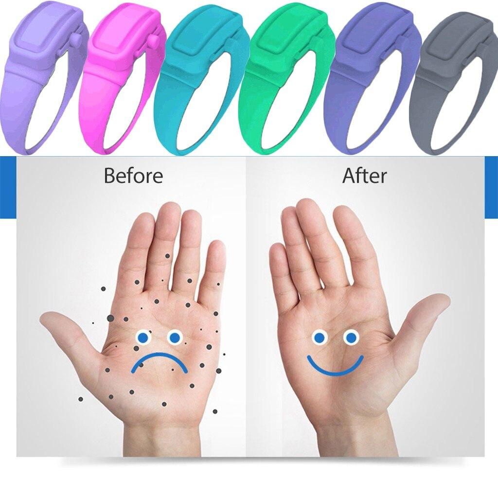 Wristband Hand Dispenser This Wearable Hand Sanitizer Dispenser Pumps Disinfecta Hand Belt + Beak Bottle
