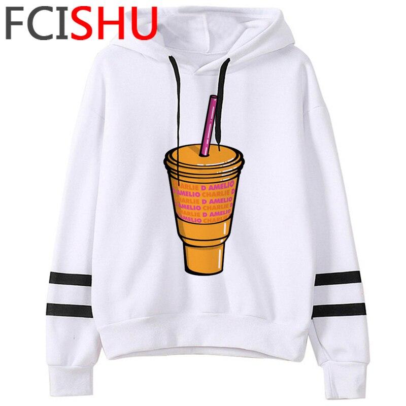 Fashion Charli Damelio Merch Ice Coffee Graphic Hoodies Women Harajuku Ullzang Funny Cartoon Sweatshirt Wimter Warm Hoody Female 13