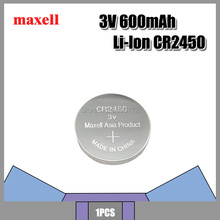 Original FOR Maxell CR2450 CR 2450 3V Lithium Button Cell Battery Coin Batteries For Watches,clocks,hearing aids(China)