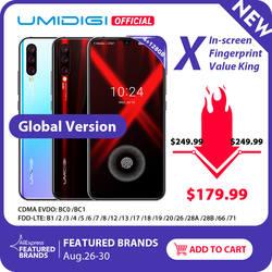 """Глобальная версия UMIDIGI X In-screen Fingerprint 6,35 """"AMOLED 48MP Тройная задняя камера 128 ГБ NFC Helio P60 4150 мАч мобильный телефон"""