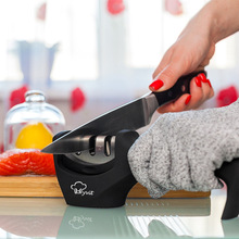 3-stage fast knife sharpener household sharpening kitchen tool diamond tungsten steel stone 3 colors