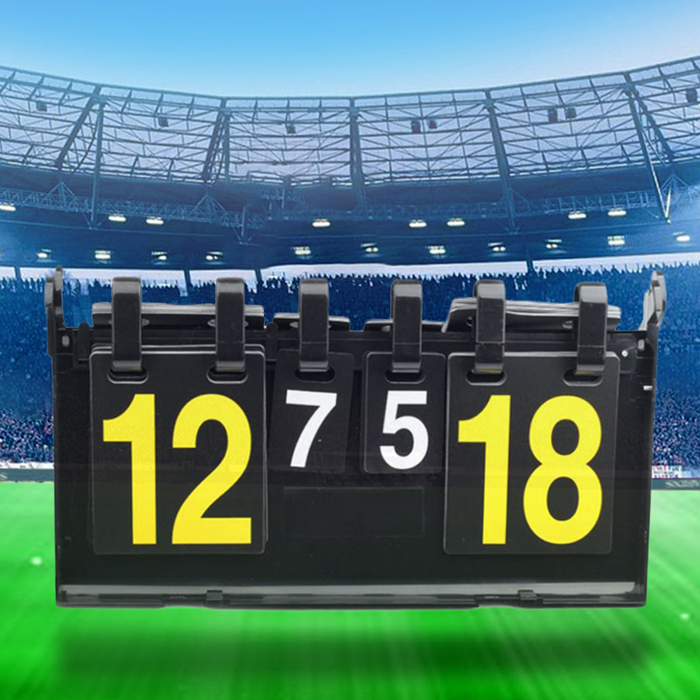 Portable 4 Digit Scoreboard Sports Scoreboard For Table Tennis Basketball Badminton Football Volleyball Competition Score Board