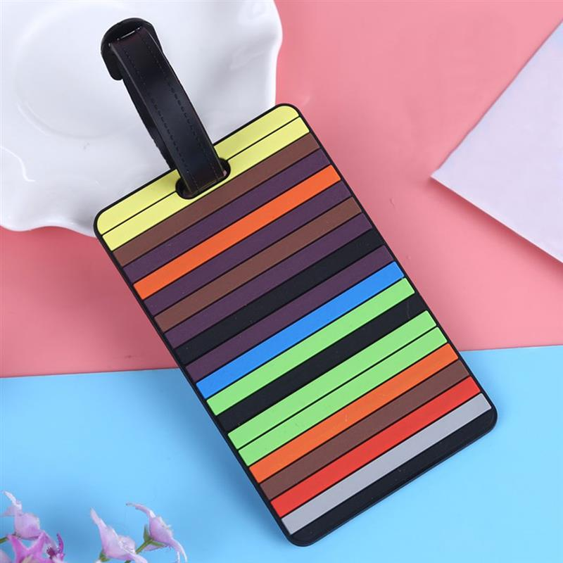 New Creative Letter Pattern Cute Luggage Tags Suitcase Cartoon Style Fashion Silicon Portable Travel Label Travel Accessories