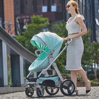 2 in 1 egg baby high land scape stroller stroller stroller can sit on a light folding children high view baby pram baby trolley