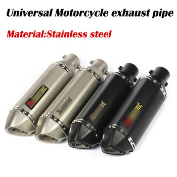 цена на 38-51mm Universal Motorcycle Akrapoviccc Exhaust Modify Motocross Exhaust Muffler ATV Dirt Pit Bike For FZ6 CBR250 CB600 MT07 R1
